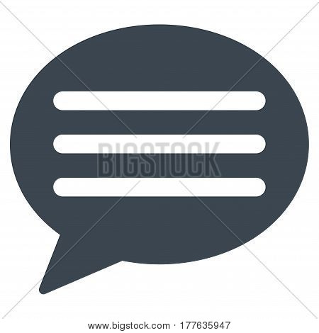 Message Cloud vector icon. Flat smooth blue symbol. Pictogram is isolated on a white background. Designed for web and software interfaces.