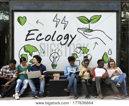 Ecology Green Energy Planet Diagram Word