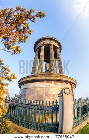 Calton Hill During Springtime In Edinburgh, Scotland