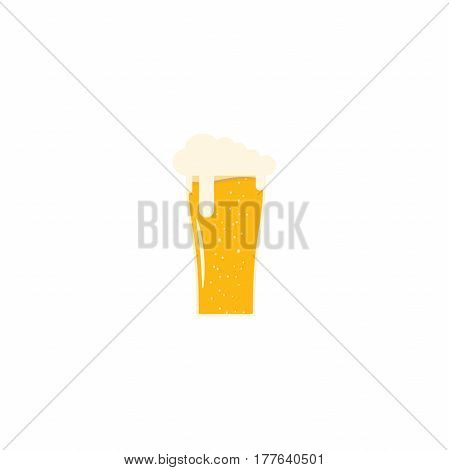 Isolated flat icon fully loaded goblet of light beer.