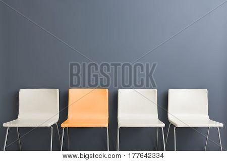 chair interior wall room white modern minimalistic comfortable gray new design