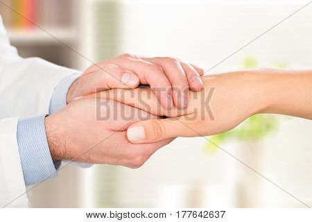 patient doctor trust hand compassion medical thanks medic male female woman