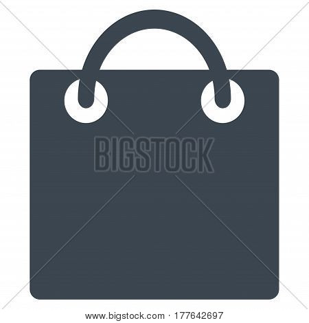 Shopping Bag vector icon. Flat smooth blue symbol. Pictogram is isolated on a white background. Designed for web and software interfaces.