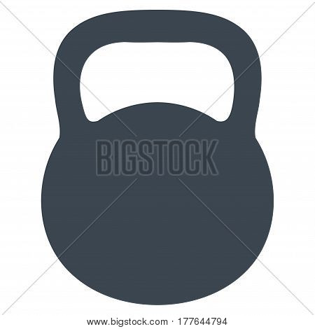 Weight Iron vector icon. Flat smooth blue symbol. Pictogram is isolated on a white background. Designed for web and software interfaces.