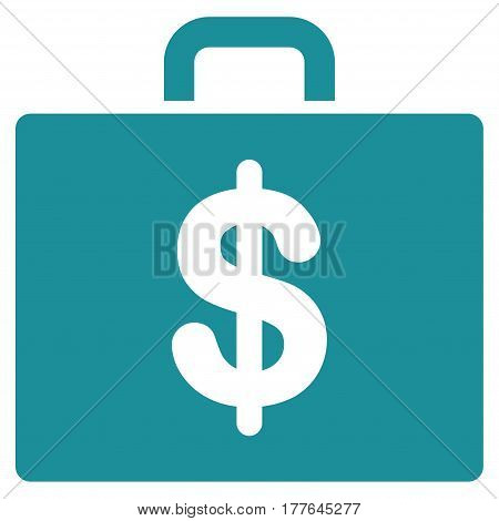 Accounting Case vector icon. Flat soft blue symbol. Pictogram is isolated on a white background. Designed for web and software interfaces.