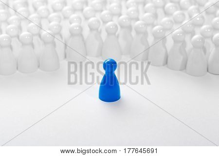 Leadership business concept with pawns. Chess business success leadership concept.