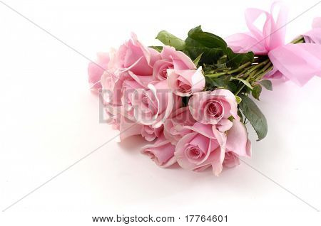 Bos van roze rozen