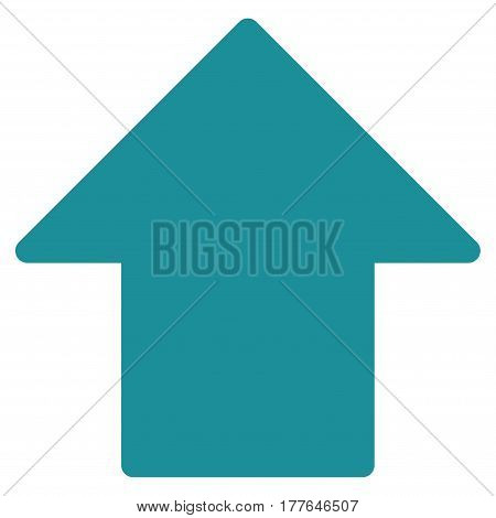 Arrow Up vector icon. Flat soft blue symbol. Pictogram is isolated on a white background. Designed for web and software interfaces.