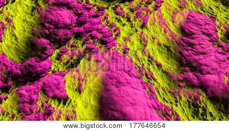 pink and yellow abstract texture and background of a bumpy surface