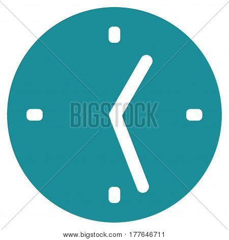 Clock vector icon. Flat soft blue symbol. Pictogram is isolated on a white background. Designed for web and software interfaces.