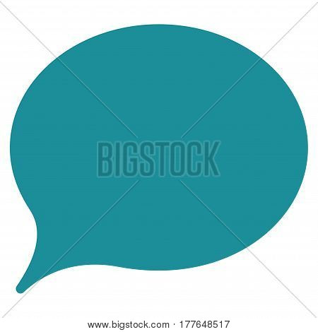 Hint Balloon vector icon. Flat soft blue symbol. Pictogram is isolated on a white background. Designed for web and software interfaces.
