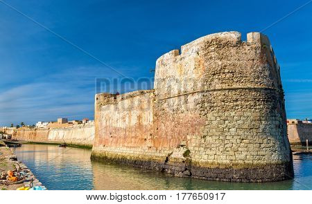 Fortifications of the portuguese town of Mazagan in El Jadida, Morocco