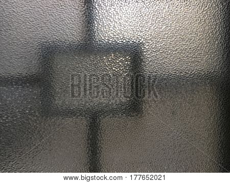 Window made with structured glass as a background