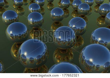 Balls Reflection Sky