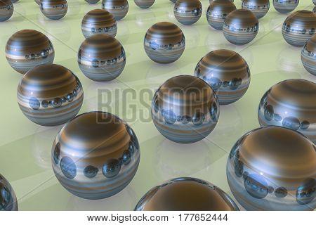 Steel Ball Reflection
