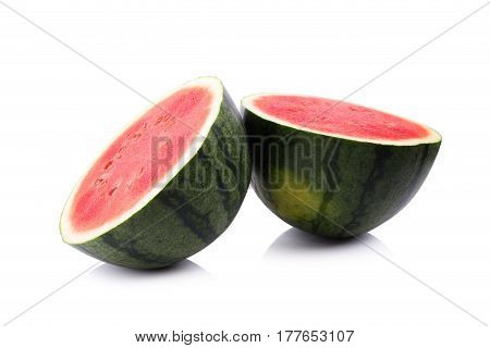 Ripe watermelon isolated on a white background.