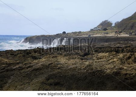 Kaena Point State Park stock photo Hawaii