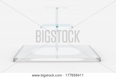 Square Of Glass In Three Tiers Stand