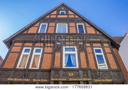 Old House In The Historical Center Of Osnabruck