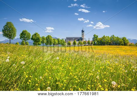 Church Of Wilparting, Bavaria, Germany