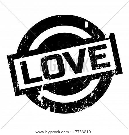 Love rubber stamp. Grunge design with dust scratches. Effects can be easily removed for a clean, crisp look. Color is easily changed.