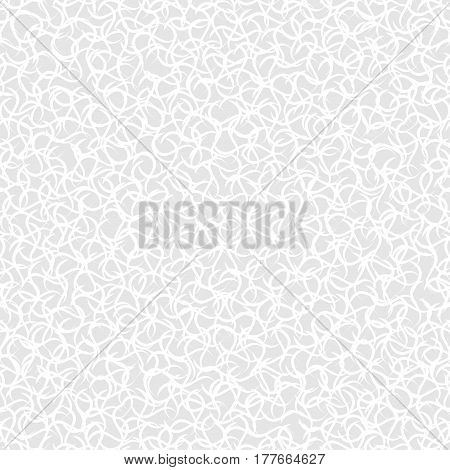 Woven seamless pattern. Vector repeatable white and gray texture.