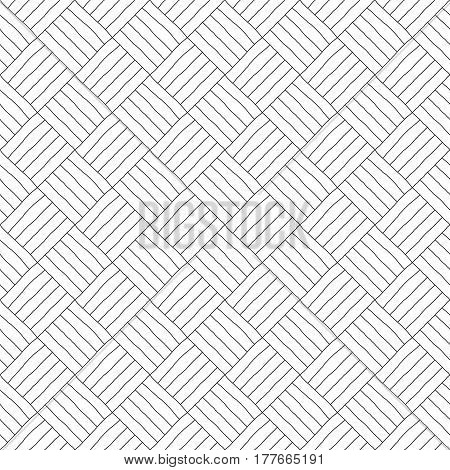 Handmade geometric pattern - a seamless vector background.