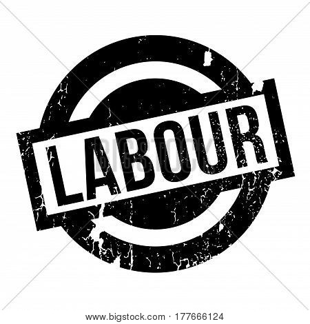 Labour rubber stamp. Grunge design with dust scratches. Effects can be easily removed for a clean, crisp look. Color is easily changed.