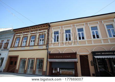 Novi Sad, Serbia: march 1. 2017 - Old town in Novi Sad - Serbia