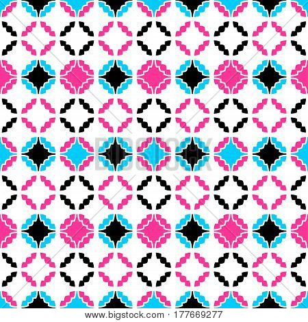 Colorful ornamental pattern - a seamless vector background.