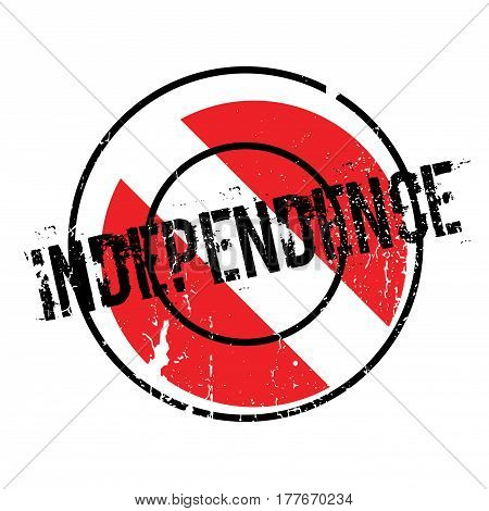 Independence rubber stamp. Grunge design with dust scratches. Effects can be easily removed for a clean, crisp look. Color is easily changed.