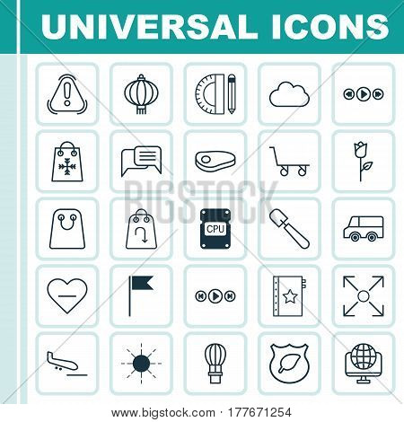 Set Of 25 Universal Editable Icons. Can Be Used For Web, Mobile And App Design. Includes Elements Such As Plane Arrival, Refund, Steak And More.