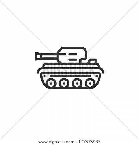 Tank line icon outline vector sign linear pictogram isolated on white. Symbol logo illustration