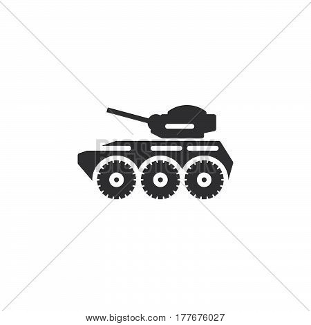 Armored personnel carrier icon vector filled flat sign solid pictogram isolated on white. Symbol logo illustration
