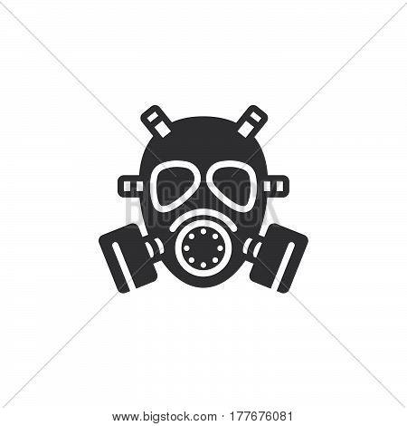 Gas mask icon vector filled flat sign solid pictogram isolated on white. Symbol logo illustration