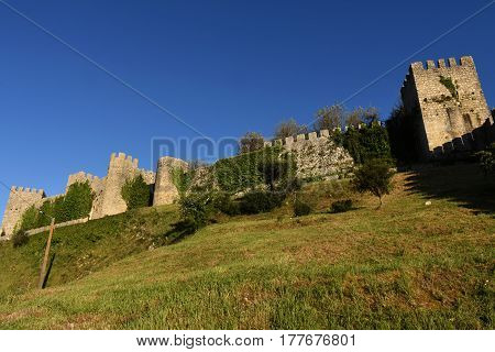 Castle And Walls  Of Montemor O Velho,beiras Region Portugal
