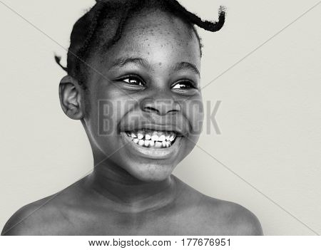 African Descent Boy Toothy Laughing Smiling