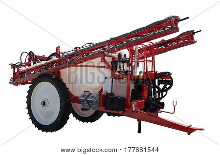 Tractor trailed sprayers  from croplands equipment. On a white background. Isolated