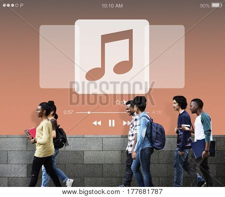Music Player Play Song Concept