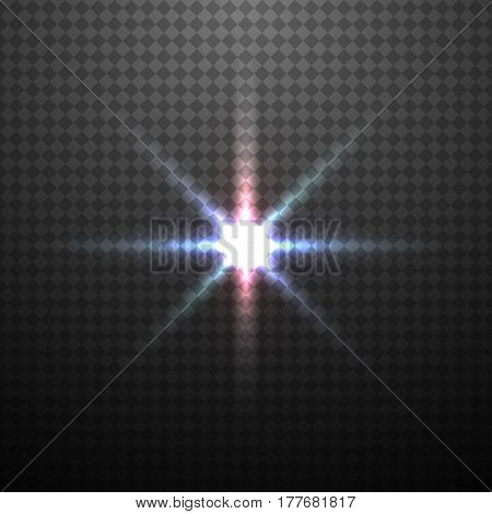 Vector color glowing light effect on transparent background.