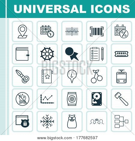 Set Of 25 Universal Editable Icons. Can Be Used For Web, Mobile And App Design. Includes Elements Such As Fertilizer, Spatula, Sweet Berry And More.