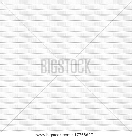 White cut texture - a seamless vector background.