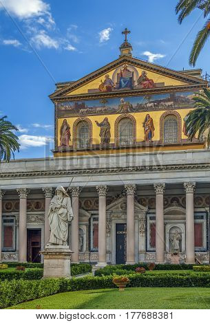 Basilica of Saint Paul Outside the Walls is one of Rome's four ancient major basilicas or papal basilicas