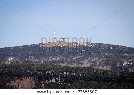 View of the Brocken from Wurmberg, Harz, Nature, Germany
