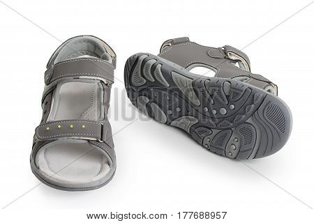 Kids Sneakers, Sandals, Sport Shoe. Isolated On A White Background.