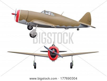 aircraft of World War II isolated on white background