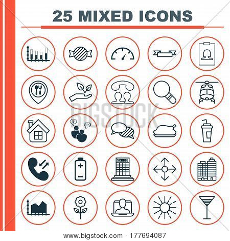 Set Of 25 Universal Editable Icons. Can Be Used For Web, Mobile And App Design. Includes Elements Such As Speaking People, Search Optimization, Speed Checker And More.