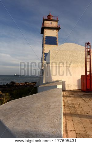 Santa Marta Lighthouse In Cascais, Lisboa Region, Portugal