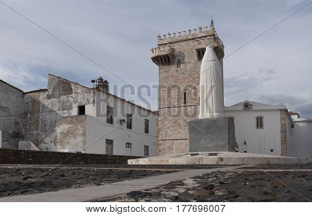 Tres Coroas (Three Crowns) Tower Estremoz Alentejo region Portugal