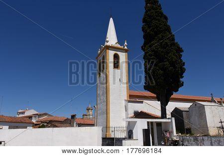 Church of Crato Alentejo region Portugal in a sunny day